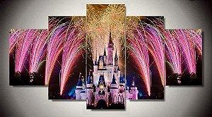 Painel Mosaico 5 Partes Disney