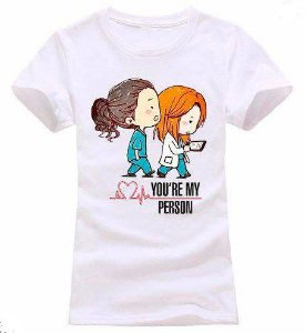 Camisa Camiseta Baby Look Estampa Full Greys Anatomy