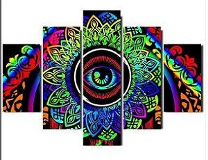 Painel Mosaico 5 partes