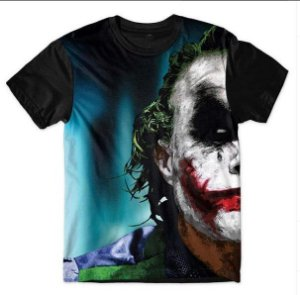 Camiseta Camisa Full Estampada Masculina - Coringa - Joker Face