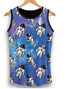 Camiseta  Regata Full Print Astronauta