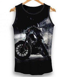 Camiseta Regata Full Print Motoqueiro