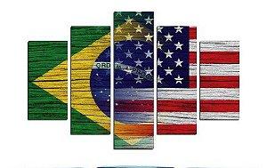 Painel Mosaico 5 partes BR e EUA