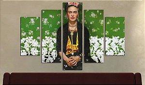 Painel Mosaico 5 partes Frida Kahlo