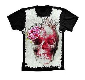 Camiseta Camisa Full Estampada Masculina Caveira
