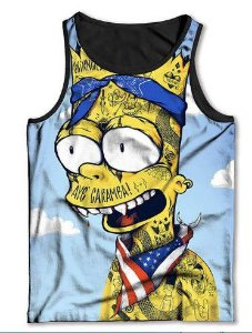 Camiseta  Regata Full Print Barte Simpsons