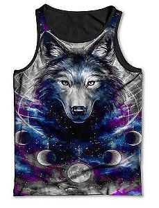 Camiseta  Regata Full Print Lobo Eclipse