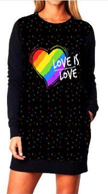 Vestido Feminino Moletom Love is Love