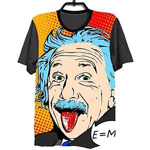 Camiseta Camisa Full Estampada Masculina Albert Einstein