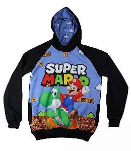 Blusa De Frio Super Mario Estampa Full Moletom Unissex