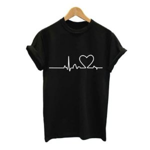 Camisa Camiseta T-Shirt Feminina Coração