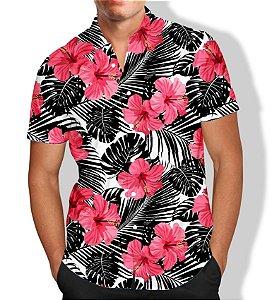 Camisa Floral Masculina Social Luxo Lançamento