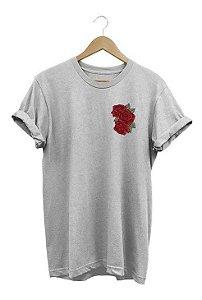 Camiseta Camisa Flor Vermelha