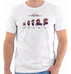 Camisa Camiseta Evolução Mário - Game