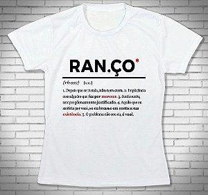 Camiseta Camisa FRASES - Ranço Dicionário