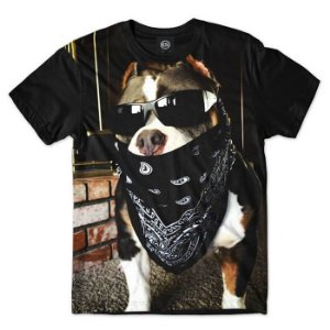 Camisa Camiseta Estampa Full ANIMAIS - PITBULL