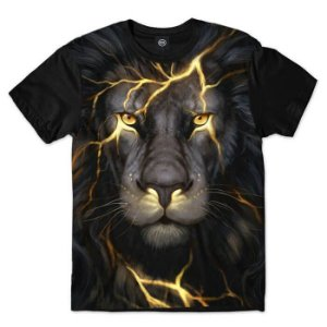 CAMISETA BLACK LION - LEÃO - ANIMAIS