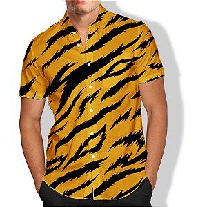 Camisa Social Unissex FLORAL ONÇA