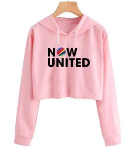Cropped Moletom Feminino Now United Music Blusa Casaco Fofo