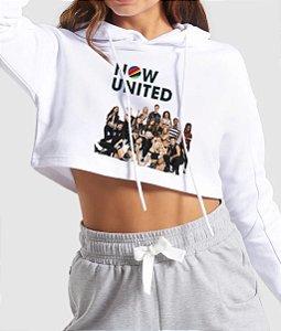 Cropped Moletom Feminino Now United Music Blusa Casaco Fofo Frete Grátis