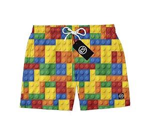 Short Bermuda Ney Moda Praia Mauricinho Lego Coleção Verão 2020