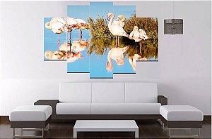 Quadrol Mosaico 5 Partes Flamingo 100cmx68cm