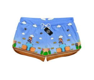 Short Feminino Moda Praia Patricinha Super Mario - Games