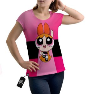 Camiseta Full Meninas Super Poderosas Florzinha