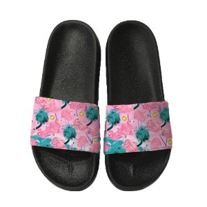 Chinelo Slide Sandalia Unissex Top - Flamingo Floral