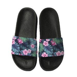 Chinelo Slide Sandalia Unissex Top - Floral Tropical