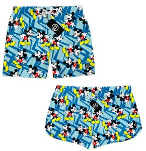 Kit Casal Short Bermuda Moda Praia - Mickey Mouse