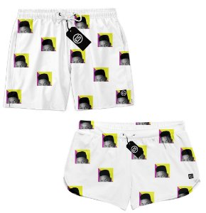 Kit Casal Short Bermuda Moda Praia - Will Smith