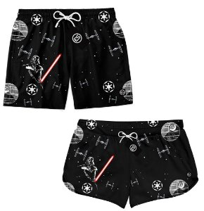 Kit Casal Short Bermuda Moda Praia - Star Wars