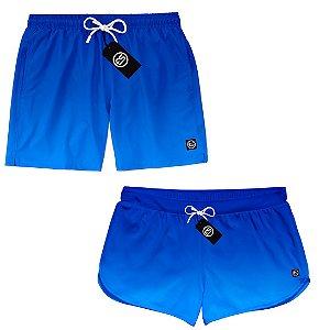 Kit Casal Short Bermuda Moda Praia - Degradê