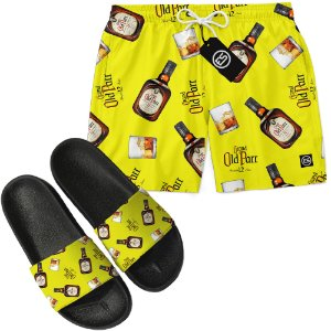Kit Short Bermuda Moda Praia + Chinelo Slide - Grand Old Parr