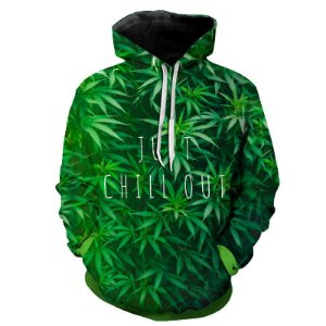 Blusa Moletom Estampa Full 3D - Just Chill Out Weed