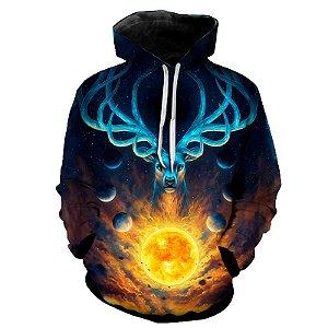 Blusa Moletom Estampa Full 3D - Celestial Deer