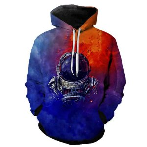Blusa Moletom Estampa Full 3D - Astronaut Color