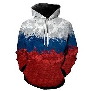 Blusa Moletom Estampa Full 3D - Bandeira Rússia