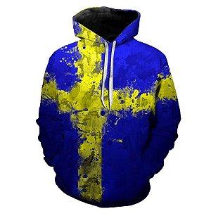 Blusa Moletom Estampa Full 3D - Bandeira Suécia