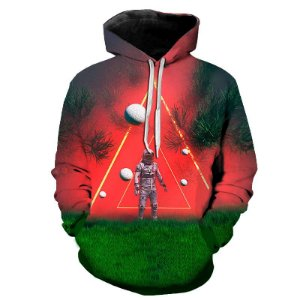 Blusa Moletom Estampa Full 3D - Astronaut Triangle