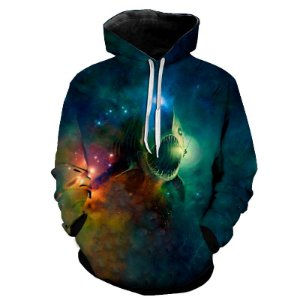 Blusa Moletom Estampa Full 3D - Lightfish Galaxy