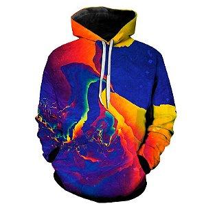 Blusa Moletom Estampa Full 3D - Paint Abstract