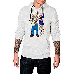 Blusa Agasalho Casaco Moletom Popeye