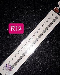 RENDINHA PRETO COM BRANCO - R12