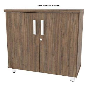 Balcão em madeira tampo de 25mm de espessura 2 portas com chave 1 prateleira interna Linha Alternativa 81cm larg x 38cm prof x 75cm altura