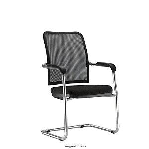 """Cadeira Fixa Estrutura em metal em """"S"""" modelo Soul"""