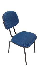 Cadeira Fixa modelo Secretária Revestimento em Tecido