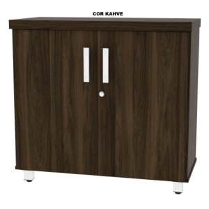Balcão em madeira tampo engrossado nas bordas 40mm de espessura 2 portas com chave 01 prateleira interna New Star 81cm larg x 38cm prof x 76cm alt