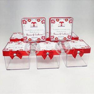 Caixinhas Personalizadas Casamento 10 Peças